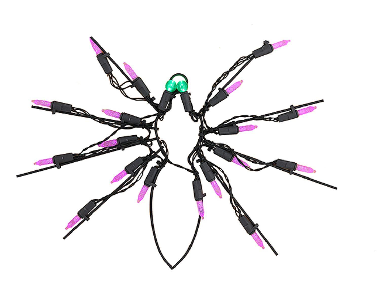 12 Battery Operated Led Lighted Spider Halloween Window Silhouette