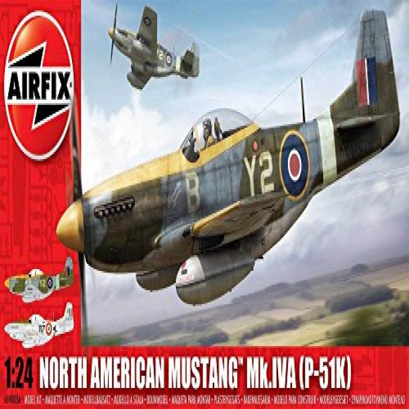 Airfix A14003 1:24 Scale North American P-51K  RF Mustang Military Aircraft Classic Kit Series 14 by