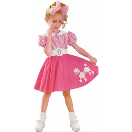 Toddler Bobby Sox Barbie Costume
