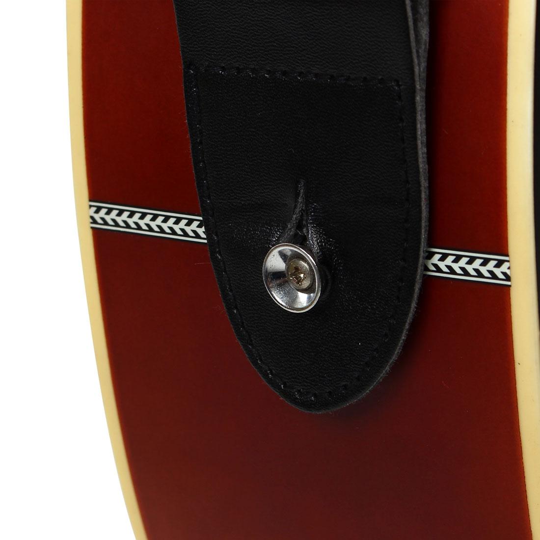 Nylon Bass Belt Adjustable Electric Guitar Strap 80-140cm Length Green - image 3 de 6