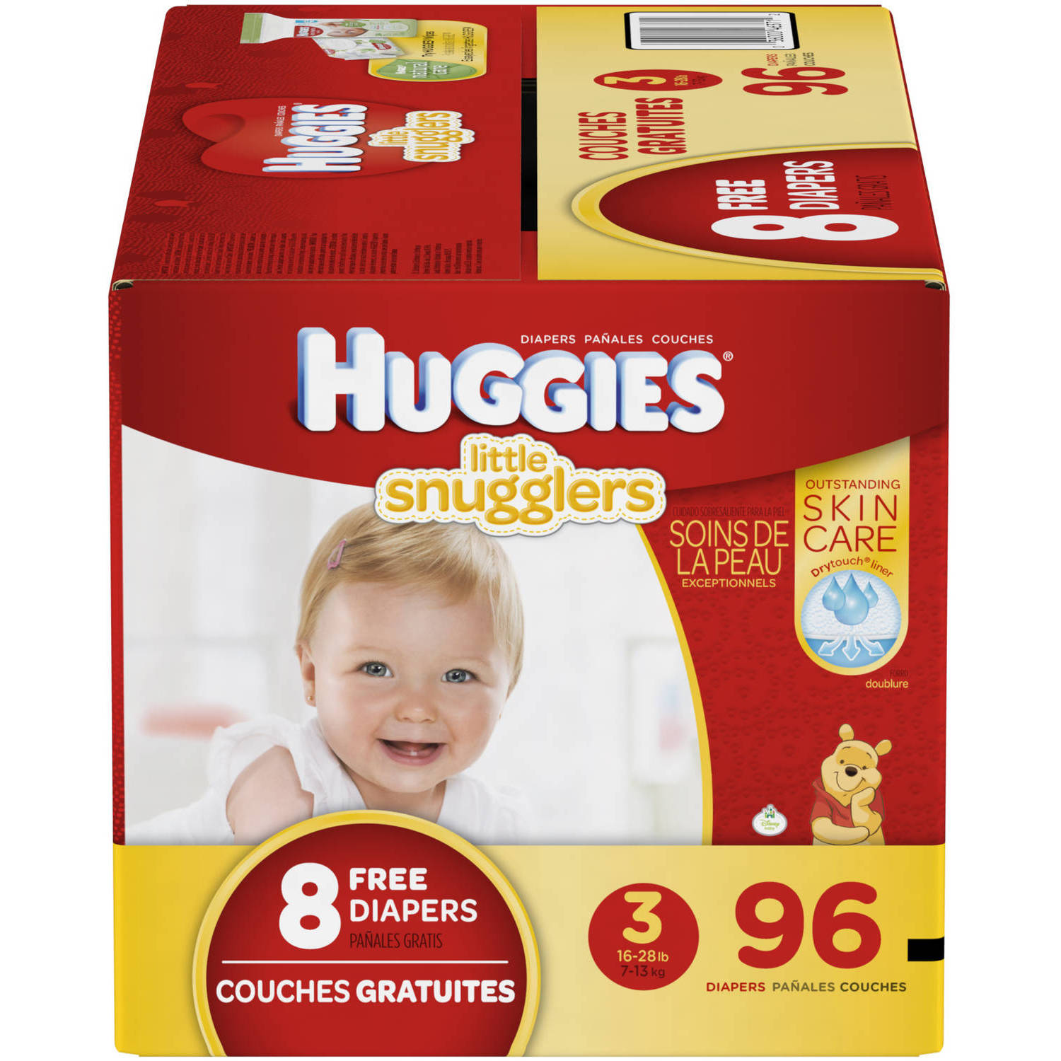 HUGGIES Little Snugglers Baby Diapers, (Choose Your Size)