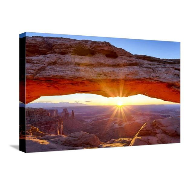 Usa Utah Canyonlands Island In The Sky Mesa Arch At Sunrise Gallery Wrapped Canvas Print Wall Art By Jamie Judy Wild Walmart Com Walmart Com