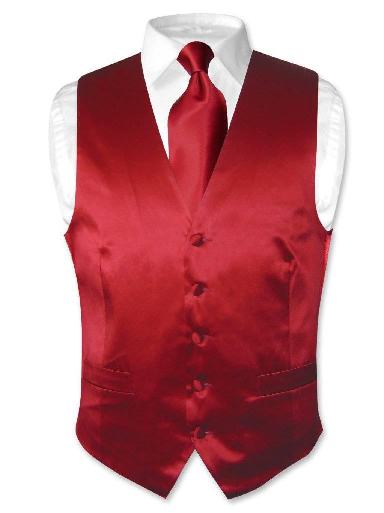 Vintage Red Satin DressVest