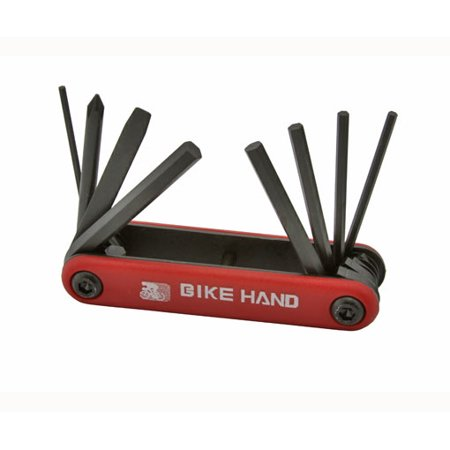 Bike Hand Folding Tool Screwdriver And Allen Wrench Set Red