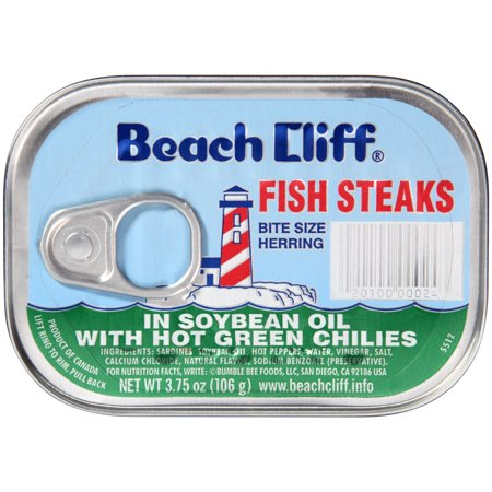 Beach Cliff Fish Steak in Soy Oil with Green Chilies, 3.75 (Breaded Fish)
