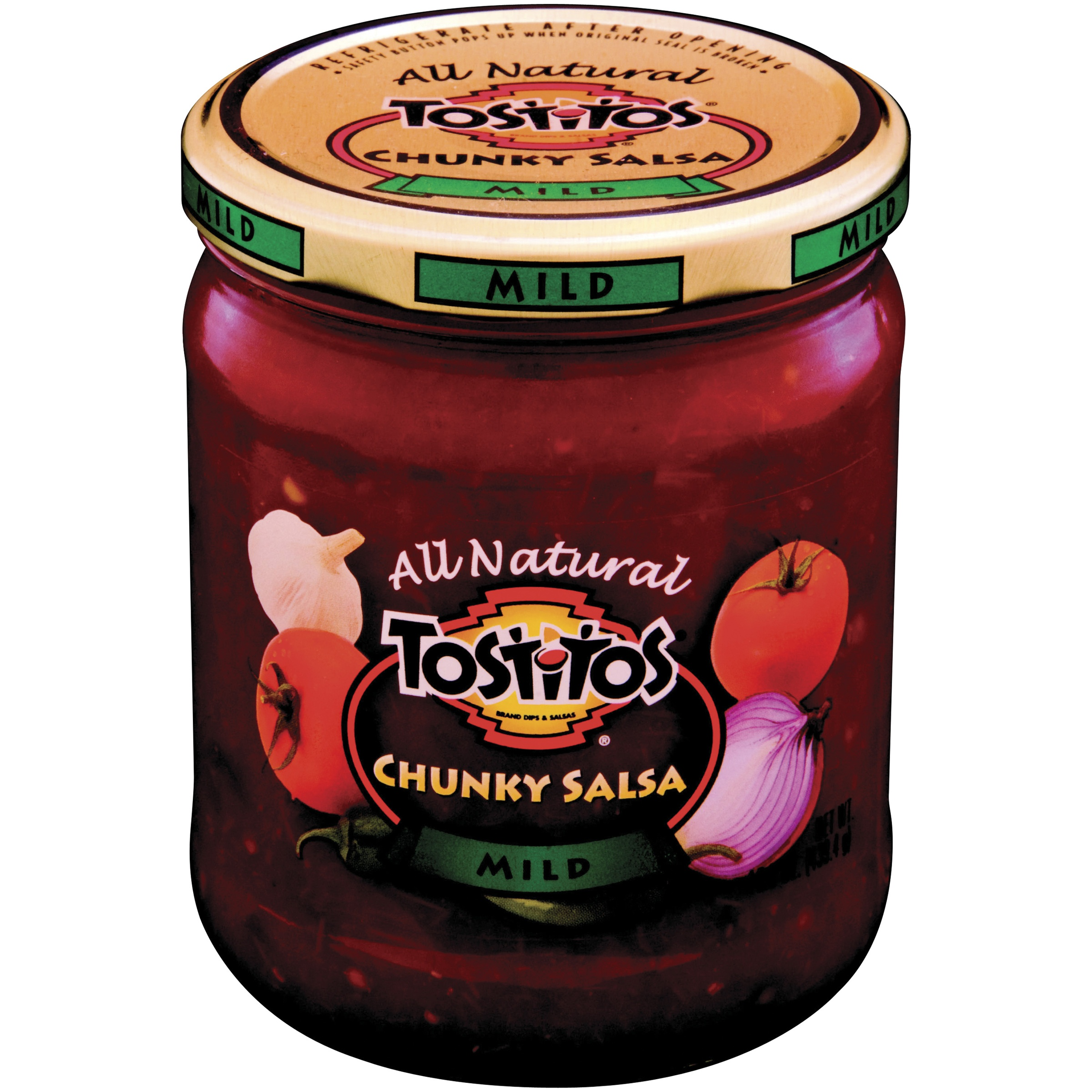 Tostitos All Natural Chunky Salsa, Mild, 15.5 oz. Jar