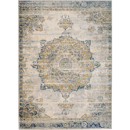 Madison Collection - 2x7 Traditional Cream/Multi-Colored Naudical Area Rug (Multiple Sizes) Soft Pile ()