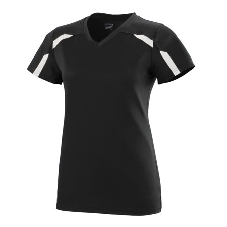Augusta Girls Avail Jersey Blk/Whi S - image 1 of 1