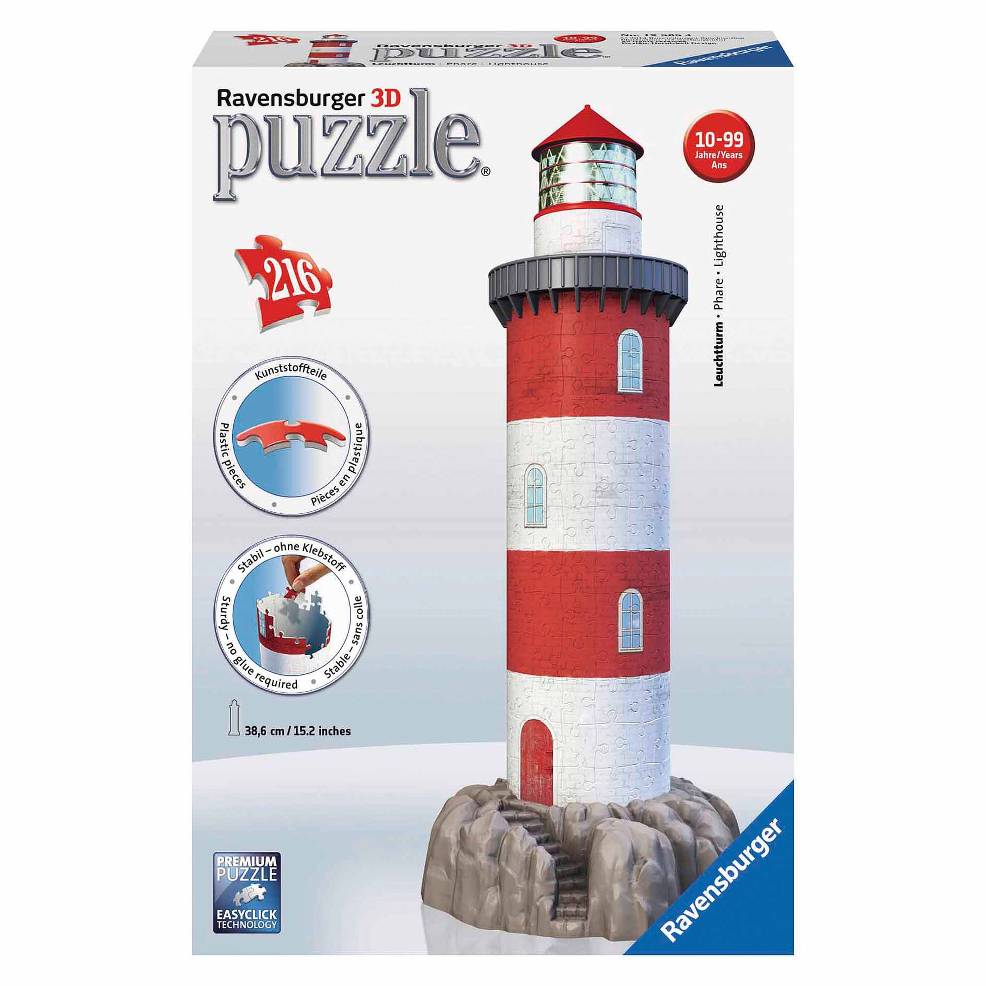 Coastal Lighthouse 3D Puzzle, 216 Pieces