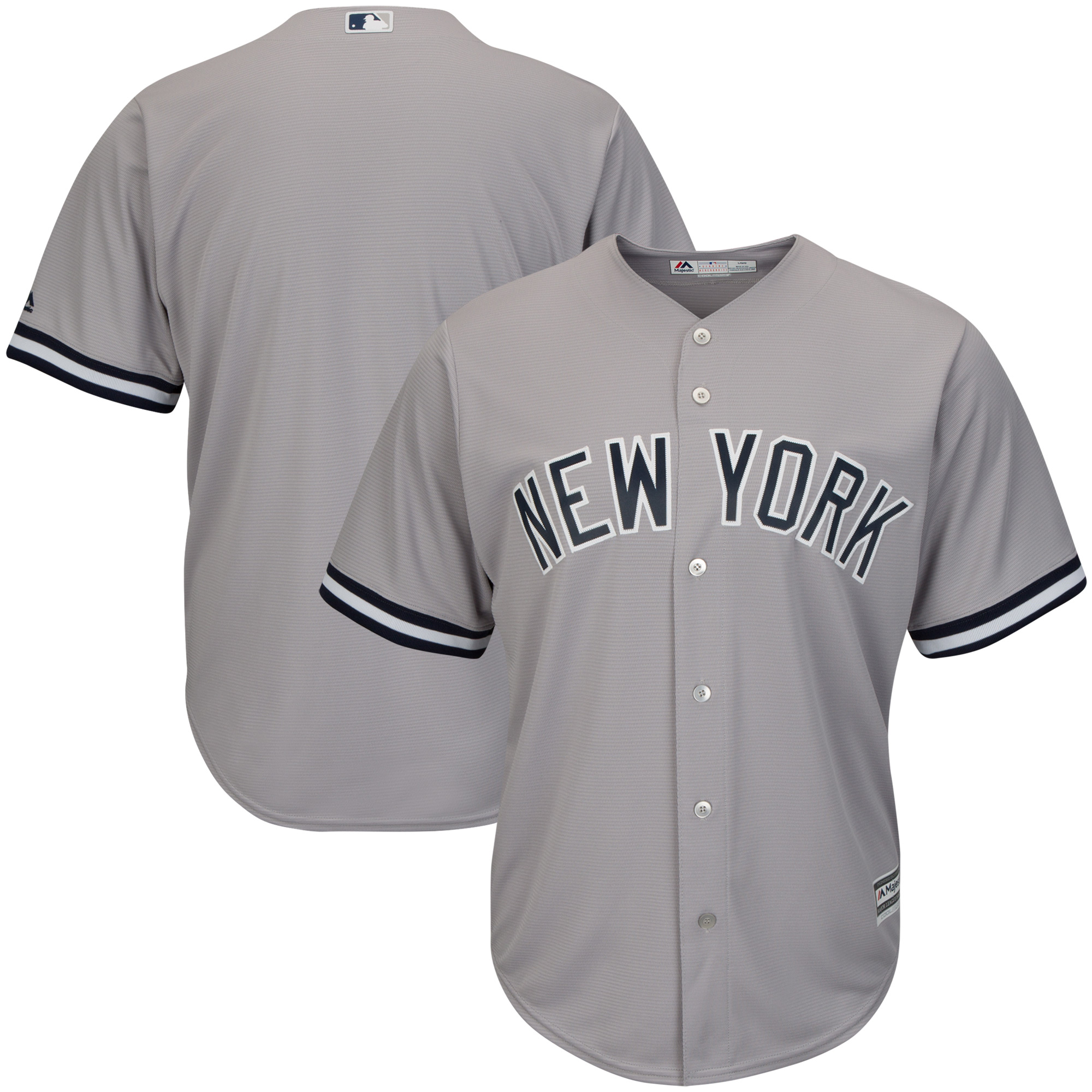 New York Yankees Majestic Youth Official Cool Base Jersey - Gray