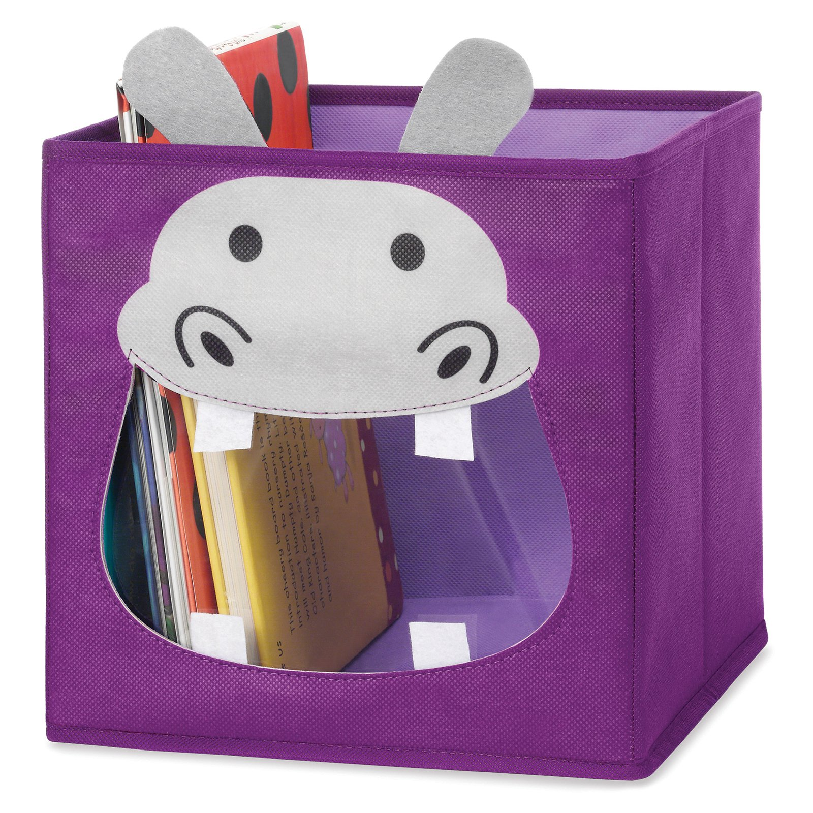 Whitmor 6256-4925-HIPPO Purple Hippo Collapsible Storage Cube