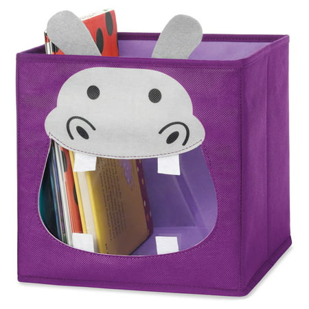 Whitmor 6256-4925-HIPPO Purple Hippo Collapsible Storage Cube Whitmor Storage Cubes