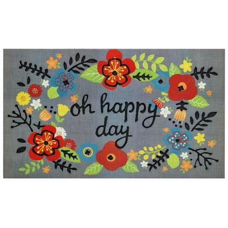 Better Homes & Gardens Oh Happy Day Doormat, 1 Each - Garden Door Mat Art