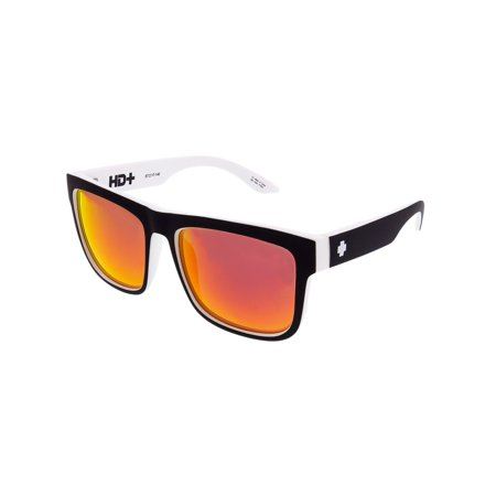 Spy Sunglasses 673119209365 Discord HD Plus Mirrored Lenses Scratch Resistant Square Shaped, Whitewall ()