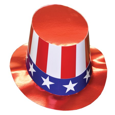 Cardboard Uncle Sam Hat Adult Halloween Accessory