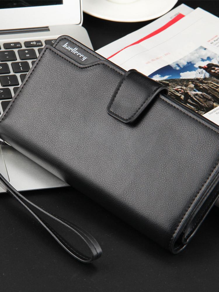 Men Wallets Clutch Money Purse Wallet Large Capacity Long Card Holder Zipper