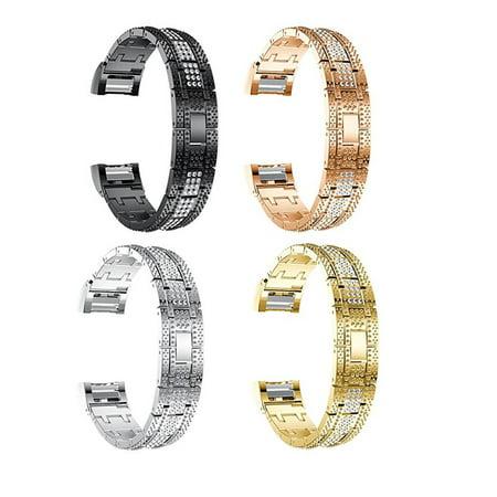 HC-TOP DiamondMetal Bracelet Watchband Replacement Watchband Rhinestone Comfortable - image 2 of 7