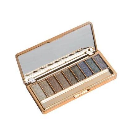 iLH Mallroom 9 Colors Shimmer Eyeshadow Eye Shadow Palette & Makeup Cosmetic Brush
