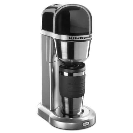 KitchenAid ® Personal Coffee Maker with 18 oz Thermal Mug Contour Silver (KCM0402CU)