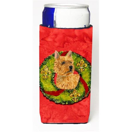 Norwich Terrier Christmas Wreath Michelob Ultra bottle sleeves For Slim Cans - 12 oz. - image 1 de 1