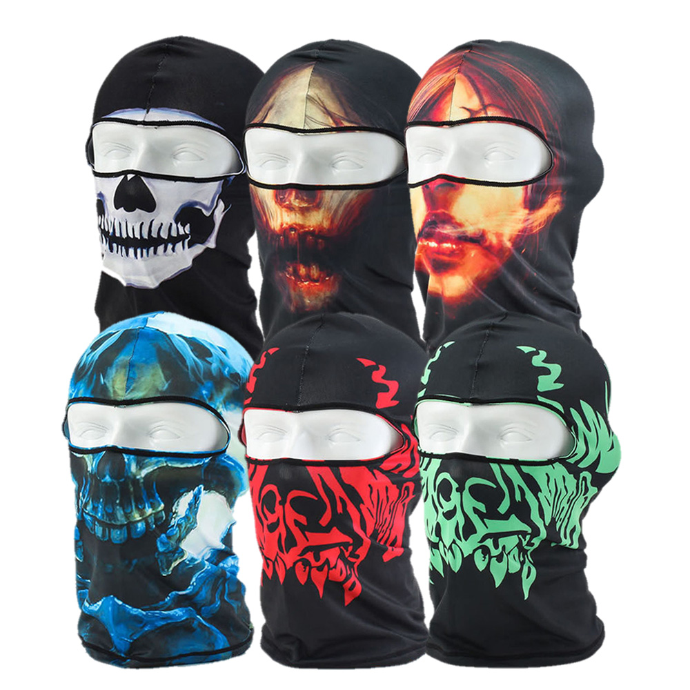 6pcs Creative Full Face Bicycle Mask Motorcycle Tactical Skiing Face Mask for Ski Bicycle CS Sports Football Helmet by EPC