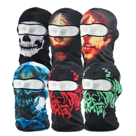 Face Football Helmet - 6pcs Creative Full Face Bicycle Mask Motorcycle Tactical Skiing Face Mask for Ski Bicycle CS Sports Football Helmet