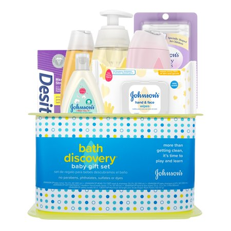 Johnson's Bath Discovery Baby Gift Set, 7 Items