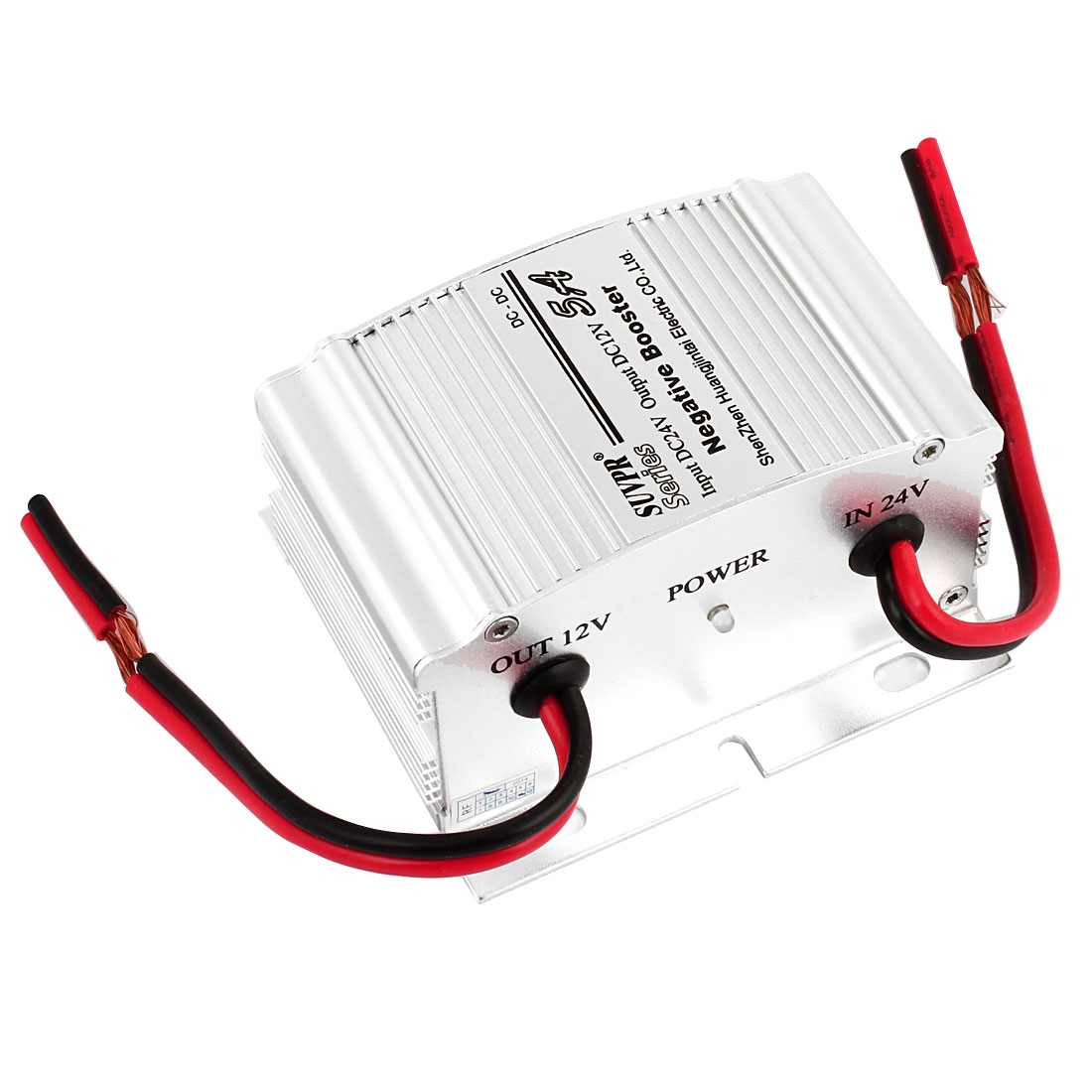Car Auto Vehicle Power Supply Inverter DC 24V to DC 12V 5A Silver Tone