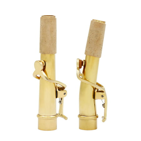 Tenor Soprano B-flat Saxophone Sax Bend & Straight Neck Kit Brass Material 16.8mm with Cleaning Cloth Saxophone