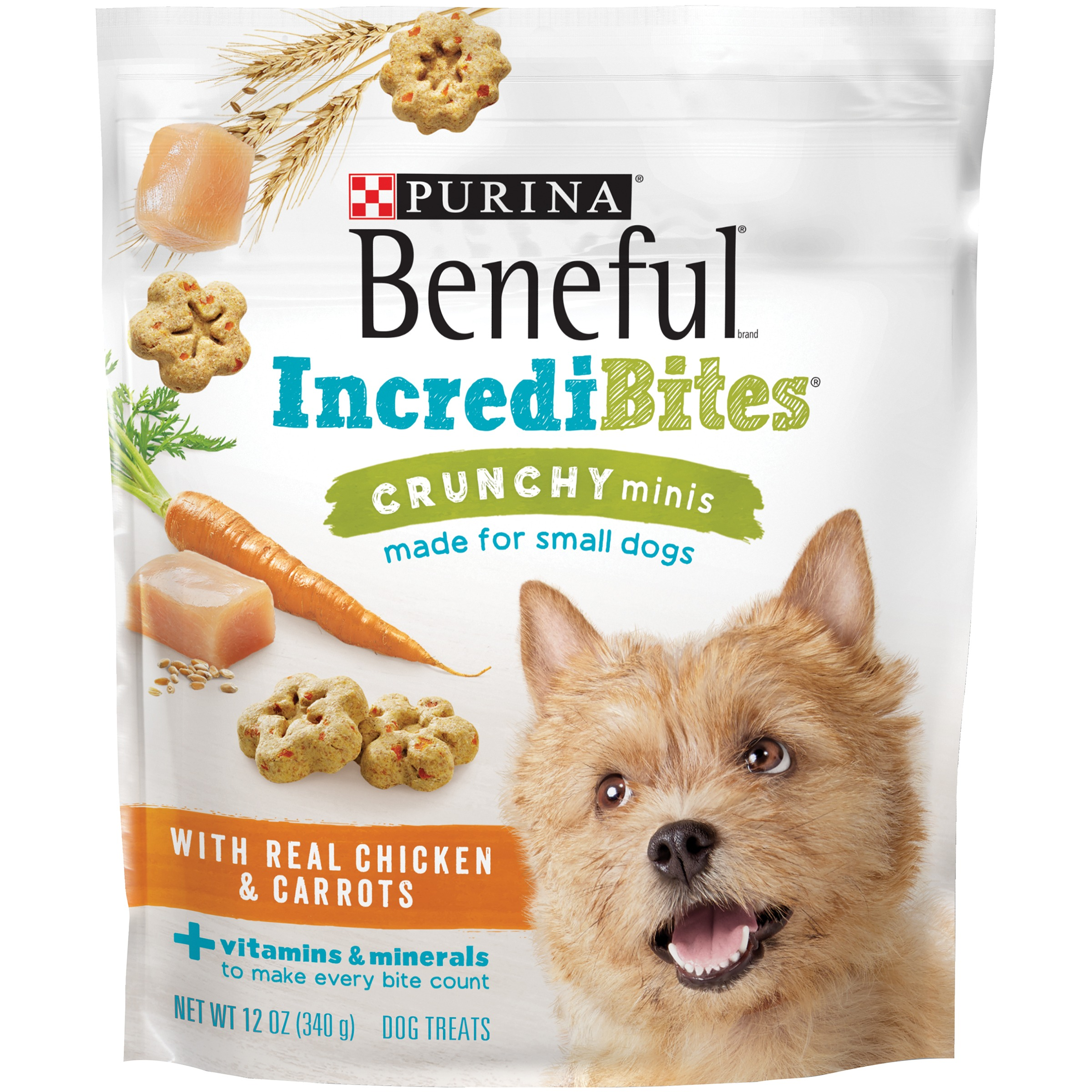 Purina Beneful IncrediBites Crunchy Minis With Real Chicken & Carrots Dog Treats 7 oz. Pouch by Nestl�� Purina PetCare Company
