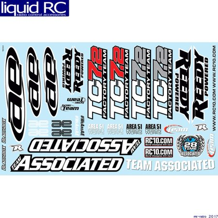 Associated 31810 TC7.2 Decal Sheet