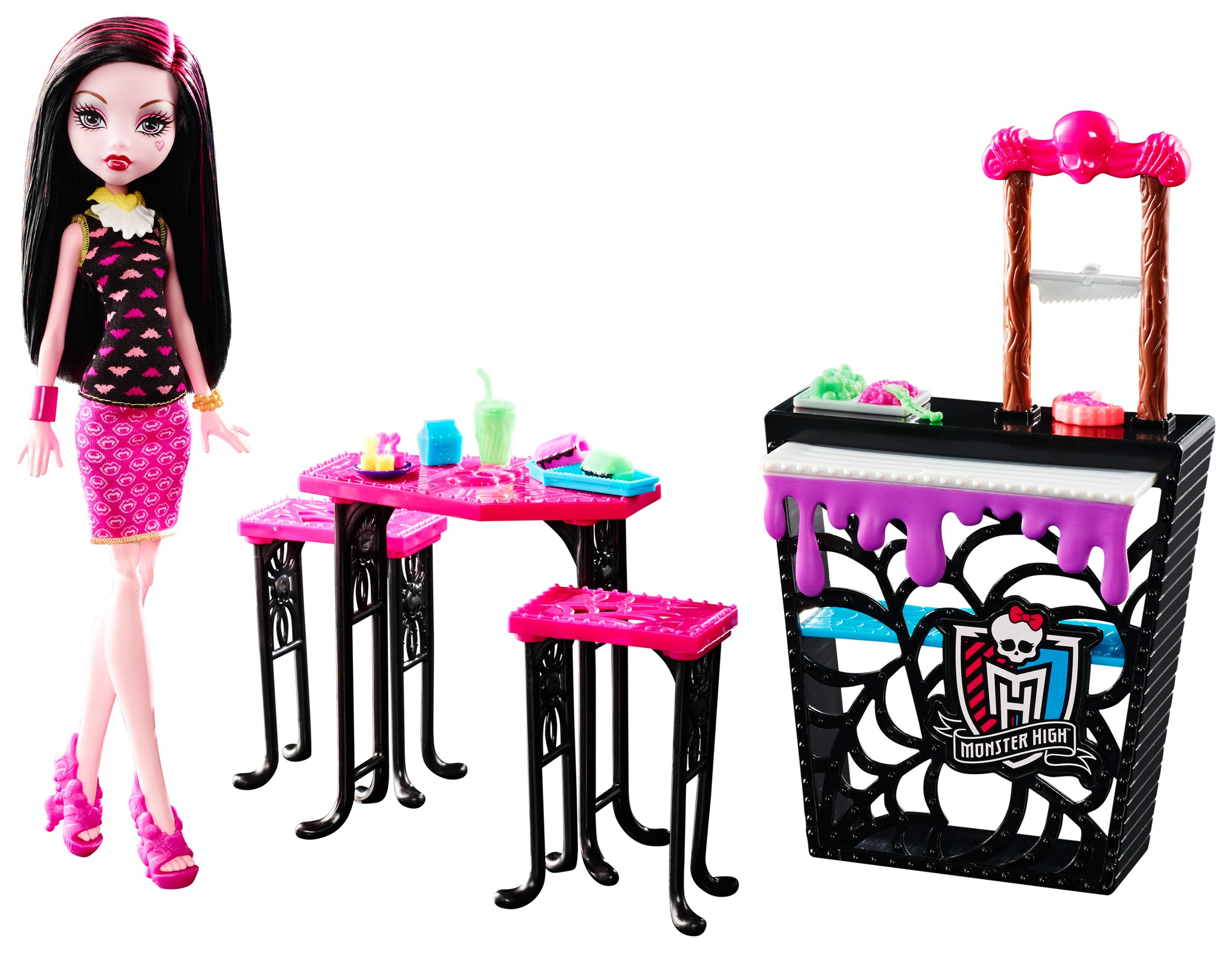 Monster High Beast Bites Cafe Draculaura Doll Playset by Mattel