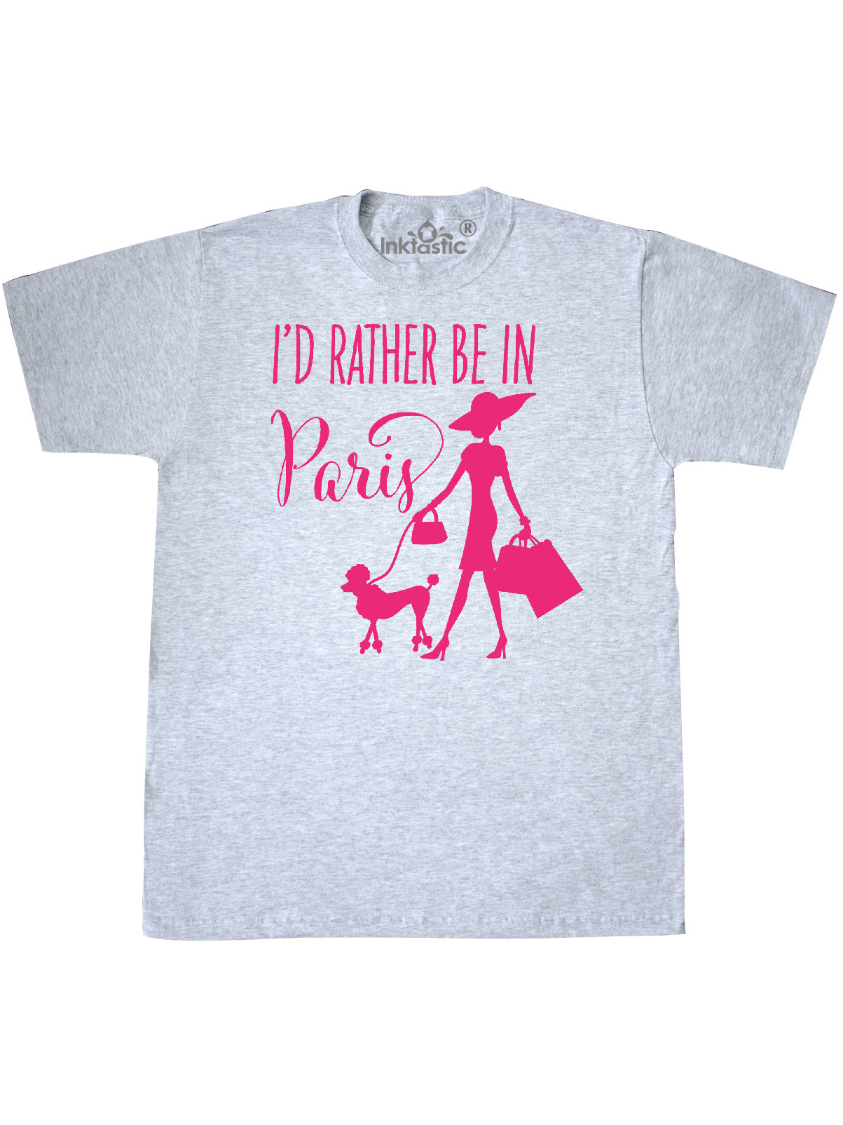Shopping and Travel in Pink Toddler T-Shirt inktastic Id Rather Be in Paris