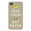 Apple Iphone Custom Case 5 5s AND SE Snap on - Keep Calm and Eat Pasta w/ Fork & Spaghetti Easy access to all buttons and ports