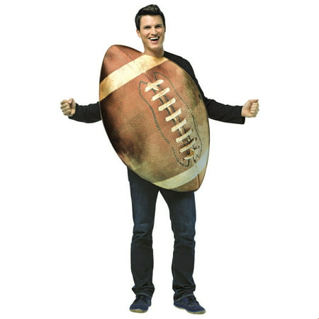 Get Real Football Adult Halloween Costume - Football Player Costume Diy