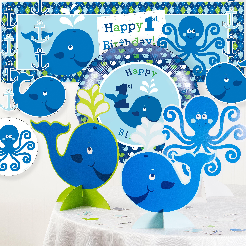 Ocean Preppy Boy 1st Birthday Party Decorations Kit DTC5016C1A