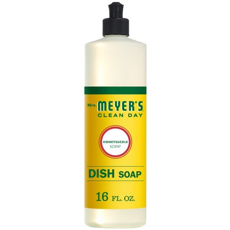 (3 Pack) Mrs. Meyer's Clean Day Liquid Dish Soap, Honeysuckle, 16 fl - Method Dish Soap