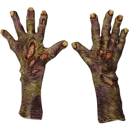 Morris Costume TB25319 Zombie Rotted Latex Glove, Large