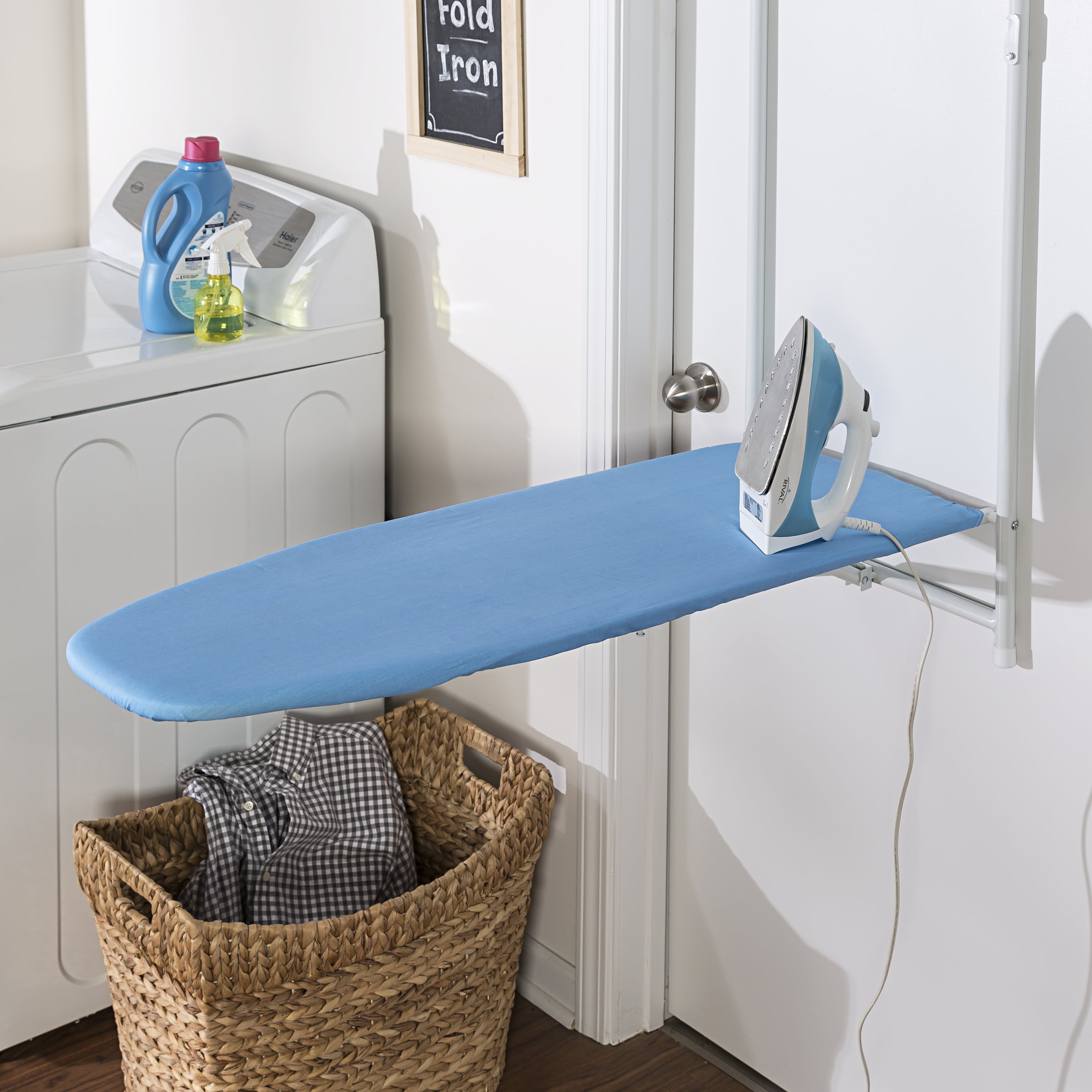 Honey Can Do Over The Door Rust-Resistant Ironing Board, Blue ...