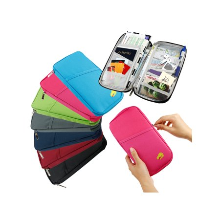 Travel Trip Passport Credit ID Card Cash Organizer Wallet Purse Holder Case Document