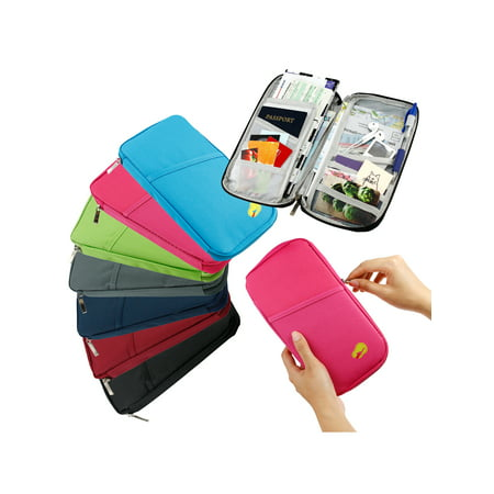 Travel Trip Passport Credit ID Card Cash Organizer Wallet Purse Holder Case Document Bag (Novelty Passport)