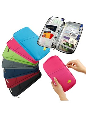Product Image Travel Trip Passport Credit ID Card Cash Organizer Wallet Purse Holder Case Document Bag