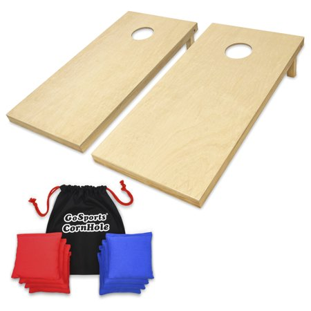 Gosports Regulation Size 4x2 Wood Cornhole Boards Outdoor Tailgate Game Kit With 8 Premium All Weather Bean Bags And Portable Tote Carrying Case