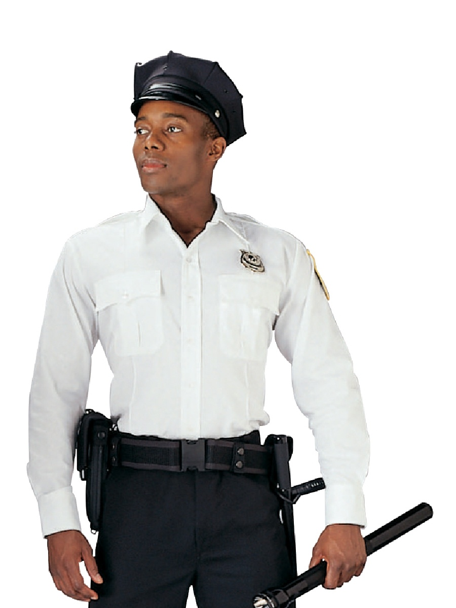 White Long Sleeve Police And Security Uniform