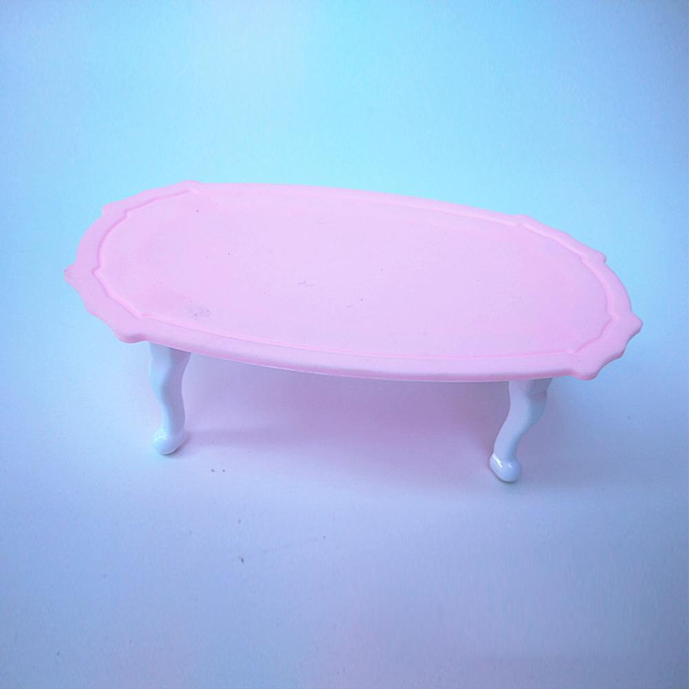 6 Pcs/Set Doll House Set Kids Mini Furniture Toys Sofa Lamp Tea Table Decor Classic Kids Toy Gift Color:Figure a set of six - image 2 de 5