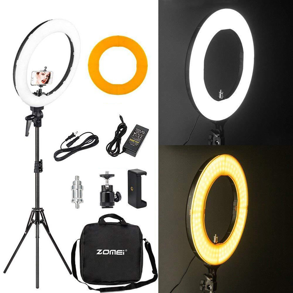 Flexible Phone//Camera Holder for Live Streaming//Makeup//Photography//YouTube Video//TIK Tok//Vlog,etc 18 Ring Light with 75 Tripod Stand Livelit Selfie Ring Light 3200K-5500K Color Temperature