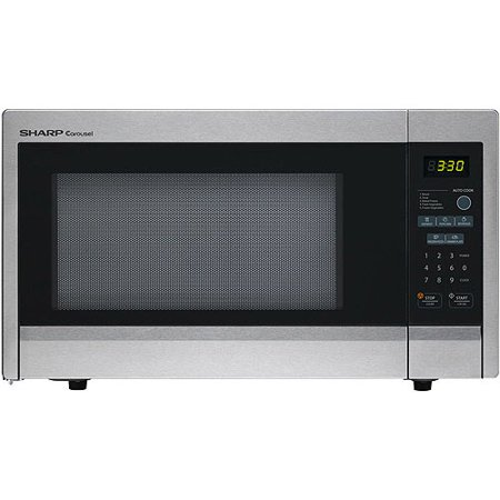Sharp R331ZS Carousel Countertop Microwave Oven 1.1 cu. ft. 1000W Stainless Steel