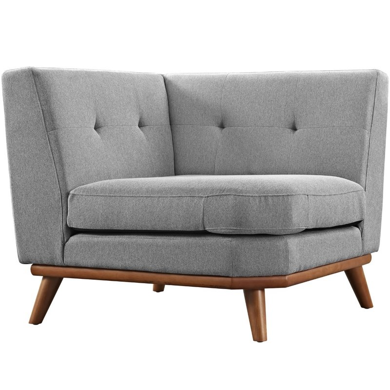 Modway Engage Corner Accent Chair in Expectation Gray