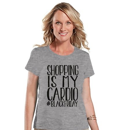 Custom Party Shop Women's Shopping is my Cardio Black Friday T-shirt - Small
