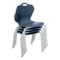 "Profile Series School Chair (18"" H)-Navy- Pack of 4"